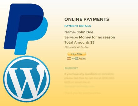 PayPal Wordpress Custom Button